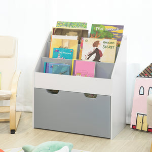SoBuy Children Kids Bookcase Book Shelf Storage Display Rack Organizer Holder,KMB17-HG