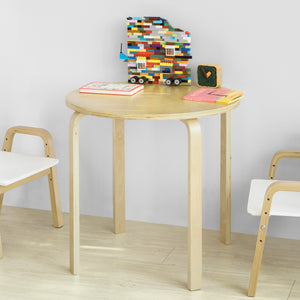 SoBuy Kids Children Table Wooden Round Table, Children Reading Table Dining Table Play Table, KMB21-N