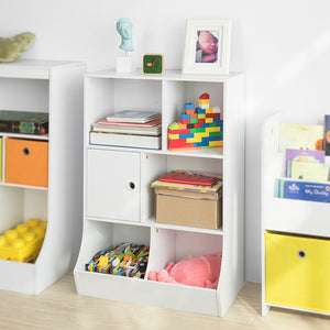 SoBuy® KMB25-W, Children Kids Bookcase Book Shelf Toy Storage Unit Storage Display Shelf Rack Organizer