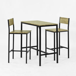 SoBuy Bar Table and 2 Stools Restaurant Kitchen Furniture Dining Set, OGT03-N