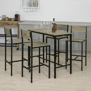 SoBuy Set of 4 Stools,Dining Bar Bistro Breakfast Table Chairs Set, OGT14