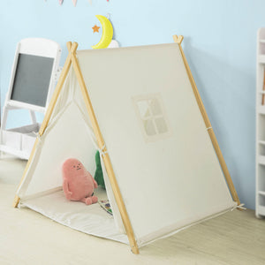 SoBuy Children Kids Play Tent Playhouse with Floor Mat OSS02-W