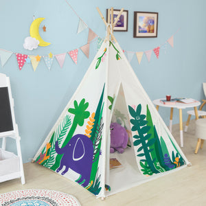 SoBuy Children Play Tent Playhouse Kids Teepee Tipi with Floor Mat,OSS03-F