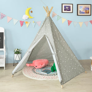 SoBuy Children Kids Play Tent Playhouse Indian Tent Teepee Tent Tepee Tipi 5 Rods,OSS04