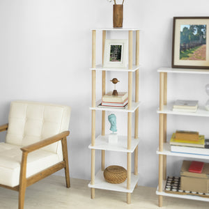 SoBuy 5 Tiers Storage Display Shelf Rack Standing Shelf Unit, Living Room Bathroom Shelf,STR04-K-WN