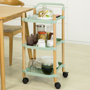 SoBuy SVW06-GR Small Trolley 3 Tier Serving Trolley for Kitchen and Living Room, Vintage