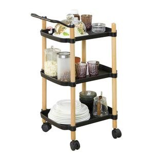 SoBuy SVW06-SCH Small Trolley 3 Tier Serving Trolley for Kitchen and Living Room, Vintage