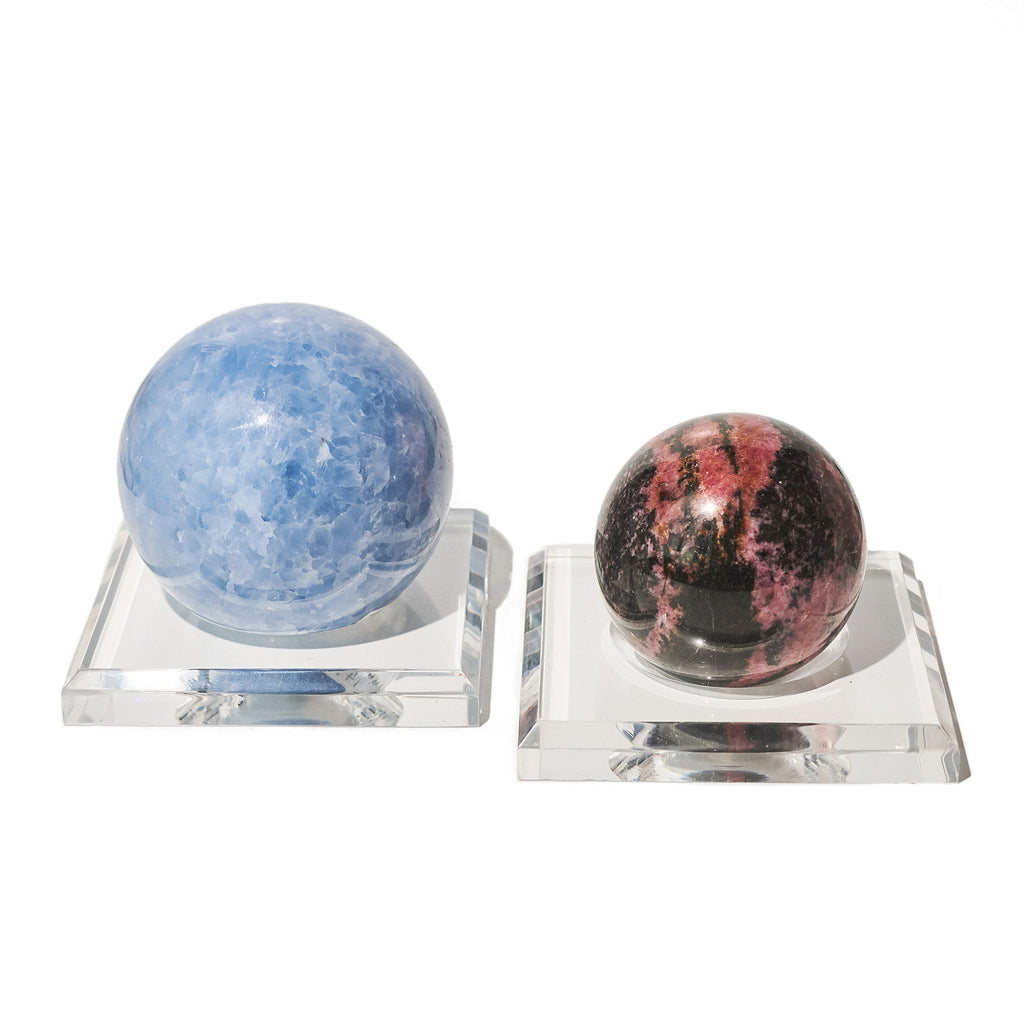 Square Acrylic Dimple Sphere Stand 3.5 Inch