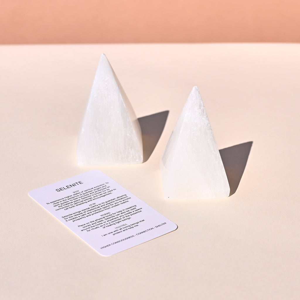 Selenite Pyramid 4 Inch