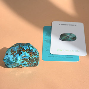 Chrysocolla w/ Malachite Polished Form