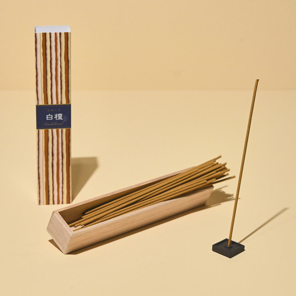 Sandalwood Incense 40 sticks w/ ceramic holder