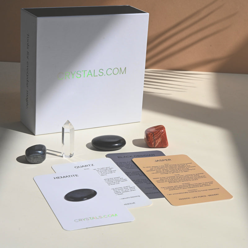 Grounded Crystal Kit - Hematite - Quartz - Jasper - Obsidian