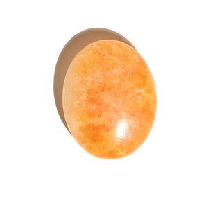 Orange Calcite Palm Stone