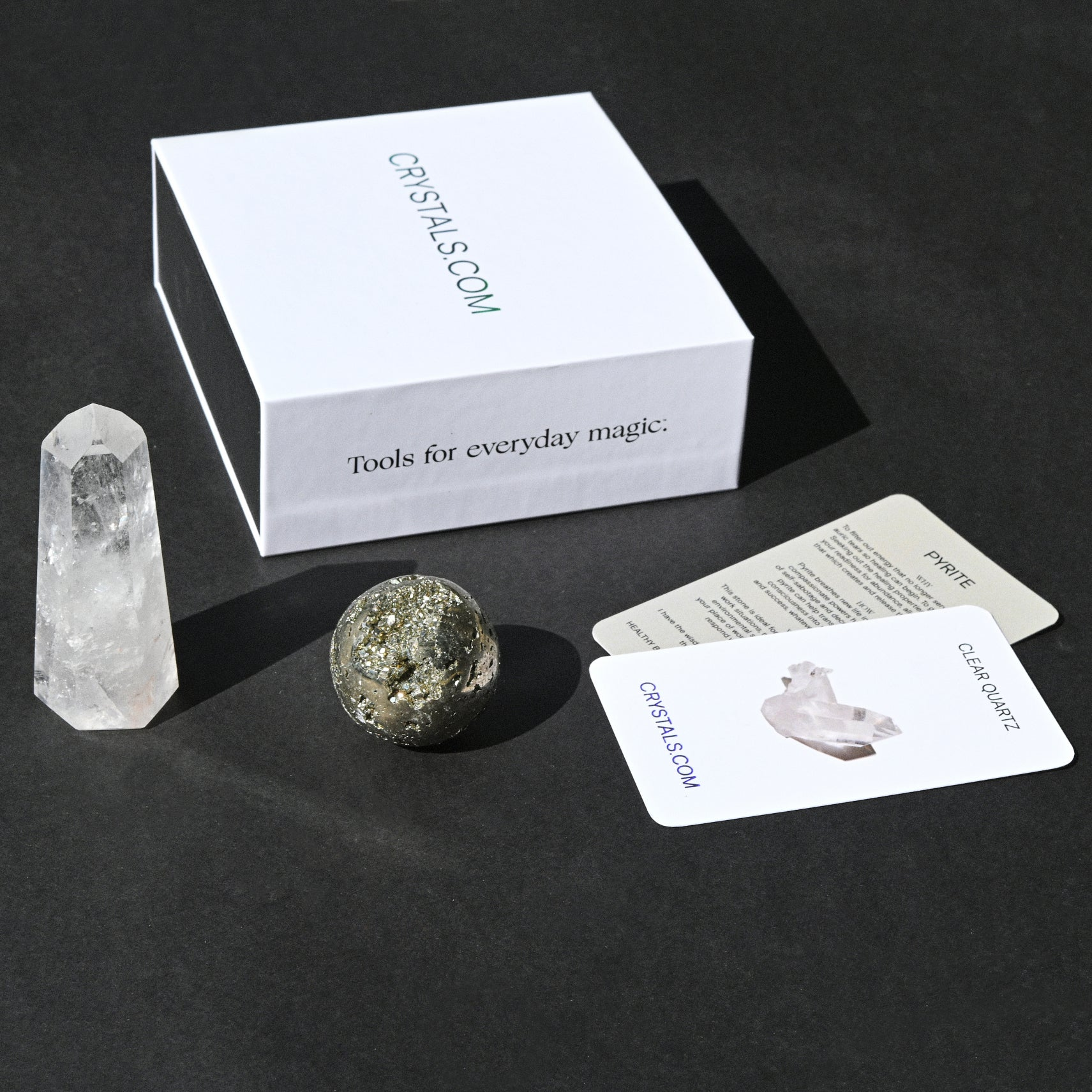 Power Pack - Laser Quartz Tower & Pyrite Sphere