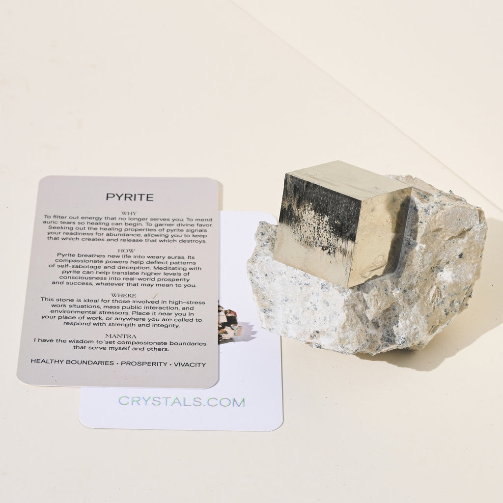 Pyrite Cube on matrix