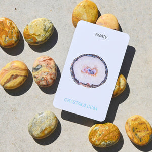 Yellow Crazy Lace Agate | Palm Stone