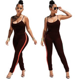 Sexy Two piece set tracksuit halter top and pants jumpsuit