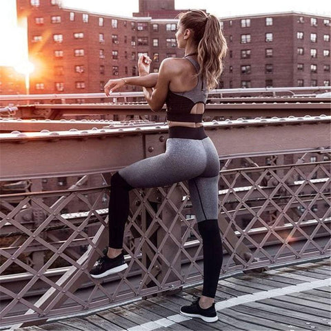 2 Piece Set Fitness Clothes Workout Sportswear - Fly and Chic