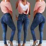 High Waist Denim Plus Size Skinny Jeans