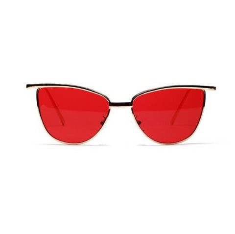 high quality red cat eye sunglasses for women