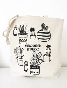 Surrounded by Pricks Farmer's Market Canvas Tote