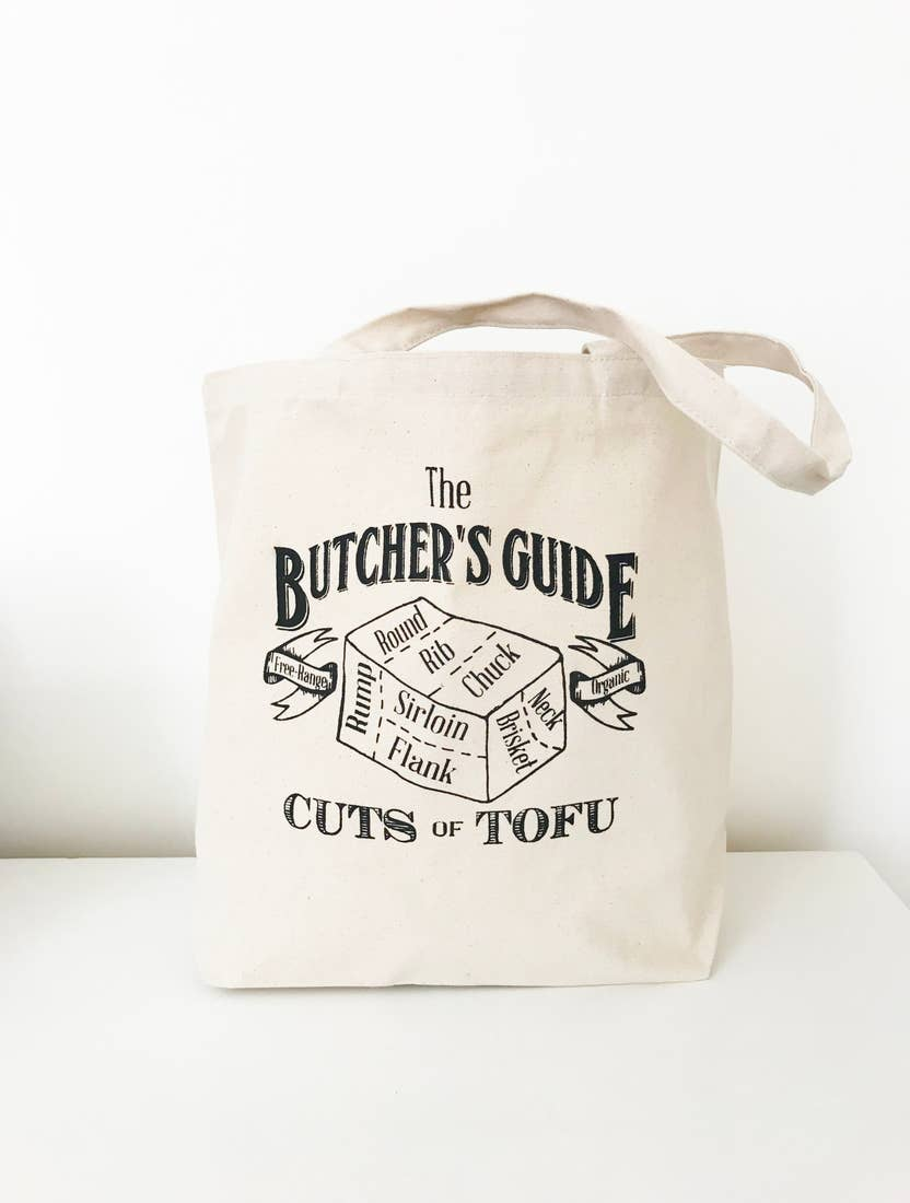 Tofu Butcher Cuts Market Canvas Tote