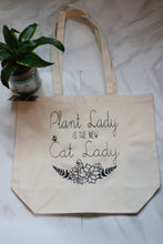 Load image into Gallery viewer, Plant Lady Farmer's Market Canvas Tote