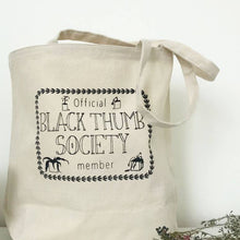 Load image into Gallery viewer, Black Thumb Society Canvas Tote