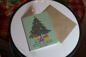 Tree OCD Holiday Greeting Card