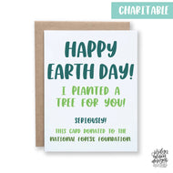Happy Earth Day- Charity Card