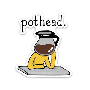 Pothead Coffee Pot Sticker