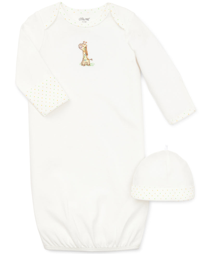 Giraffe Sleeper Gown and Hat