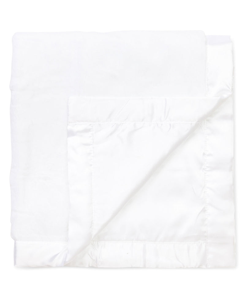 White Plush Receiving Blanket - Little Me