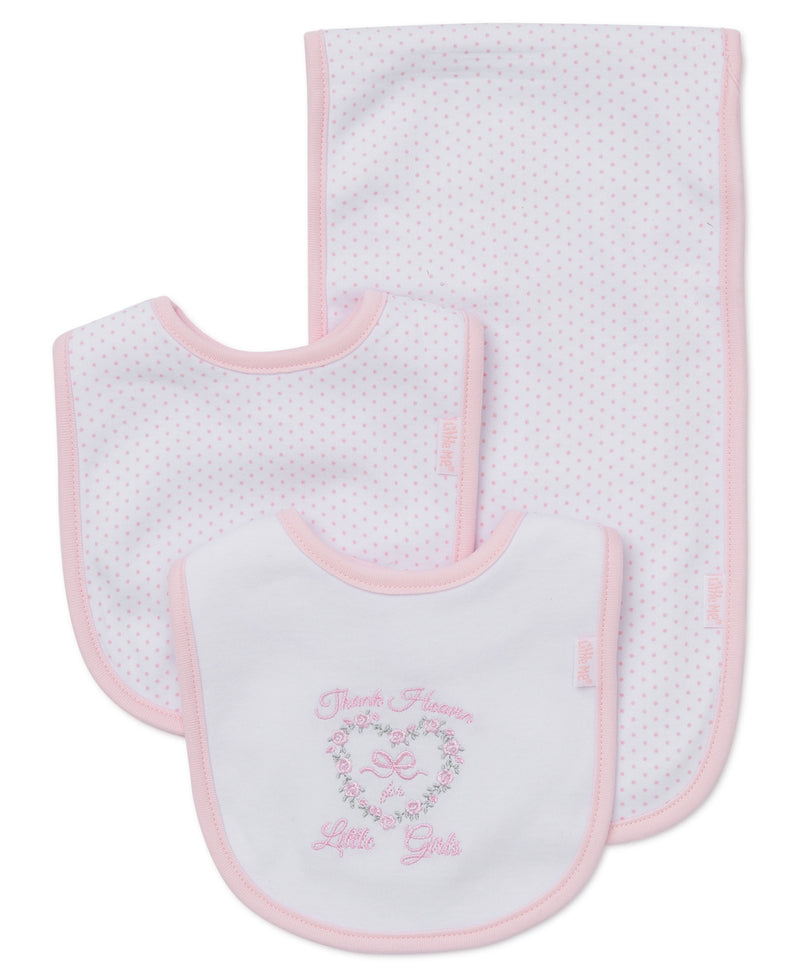 Thank Heaven For Little Girls Bib & Burp Set