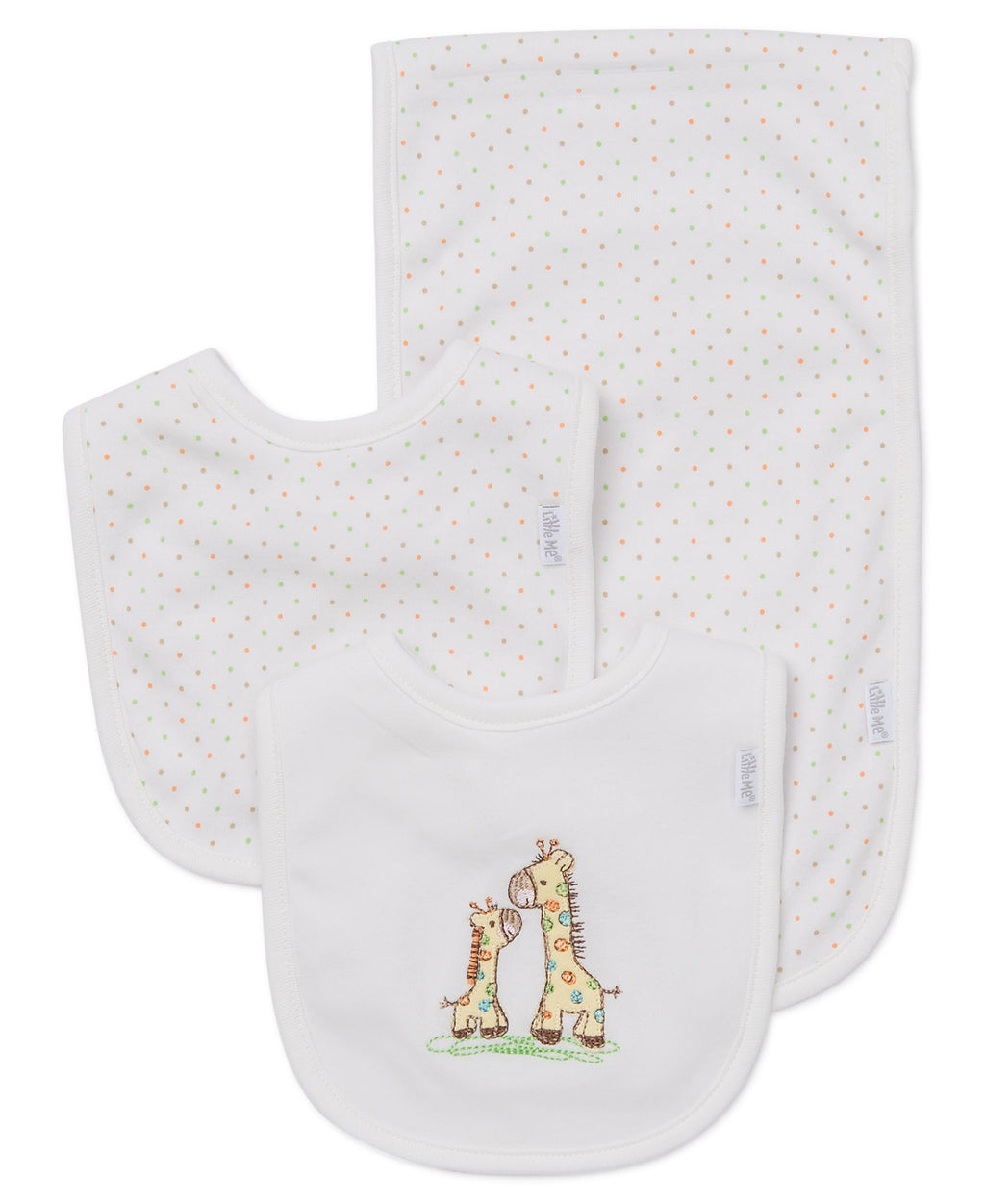 Giraffe Bib & Burp Set