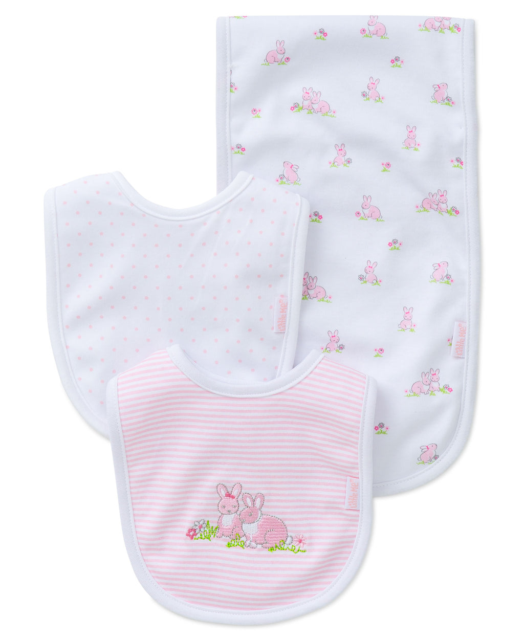 Baby Bunnies Bib & Burp Set