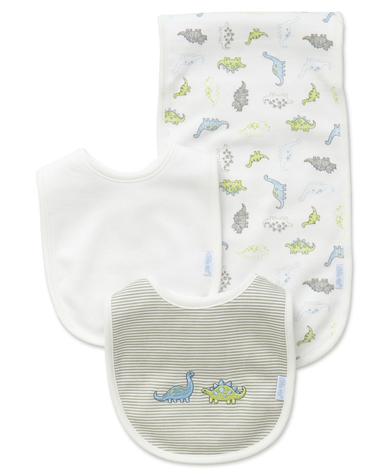 Tiny Dinos Bib & Burp Set - Little Me