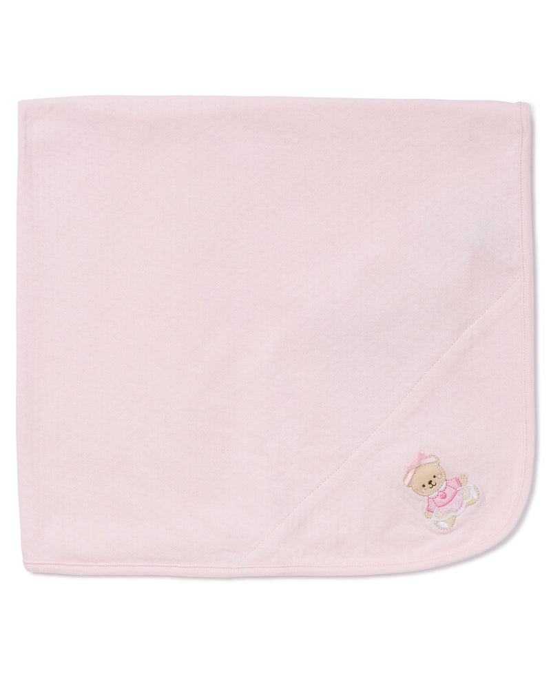 Pink Bear Receiving Blanket - Little Me