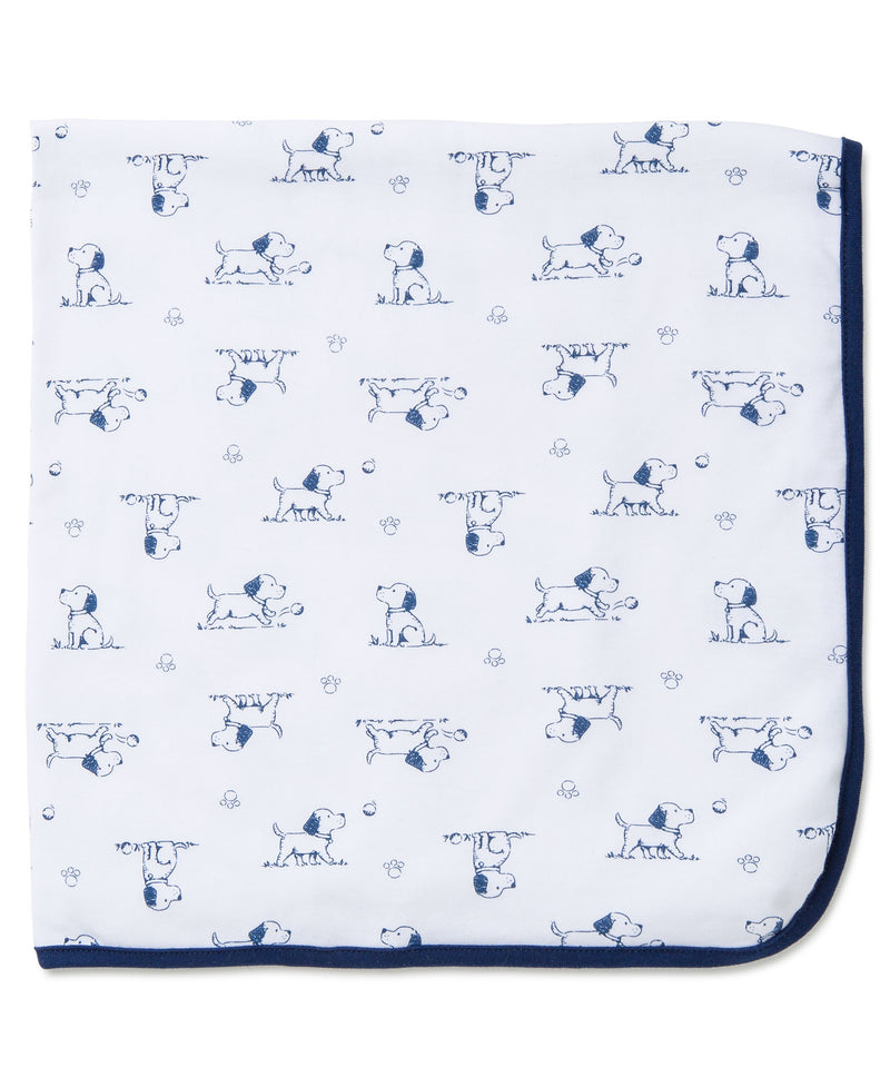 Puppy Toile Receiving Blanket - Little Me