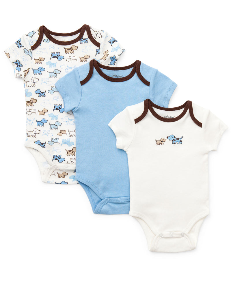 Cute Puppies 3-Pack Bodysuits - Little Me
