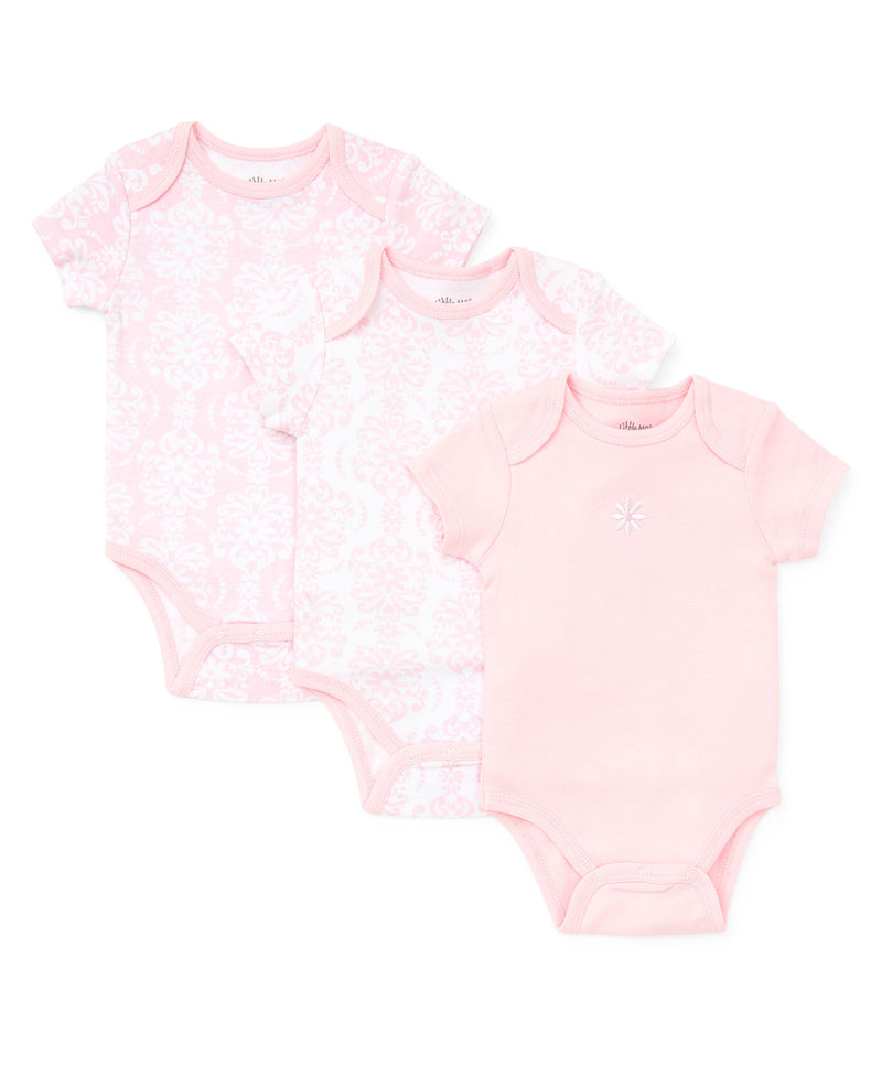 Damask Scroll 3-Pack Bodysuits