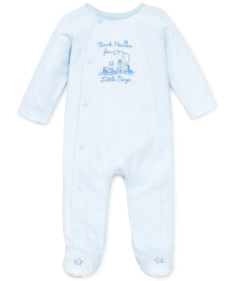 Thank Heaven for Little Boys Footed One-Piece - Little Me