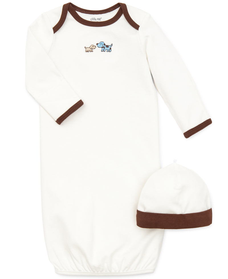 Cute Puppies Sleeper Gown And Hat