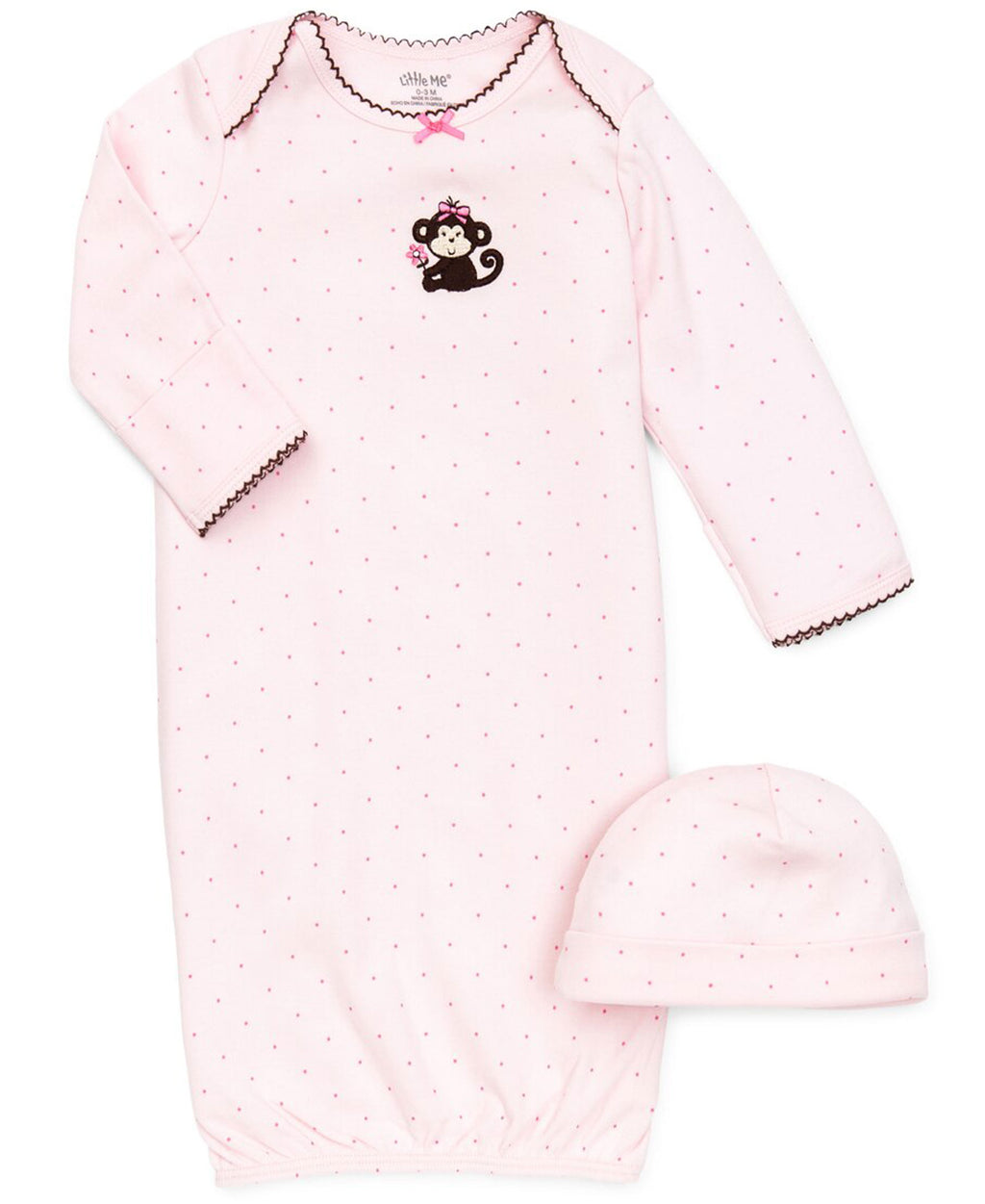 Pretty Monkey Sleeper Gown And Hat