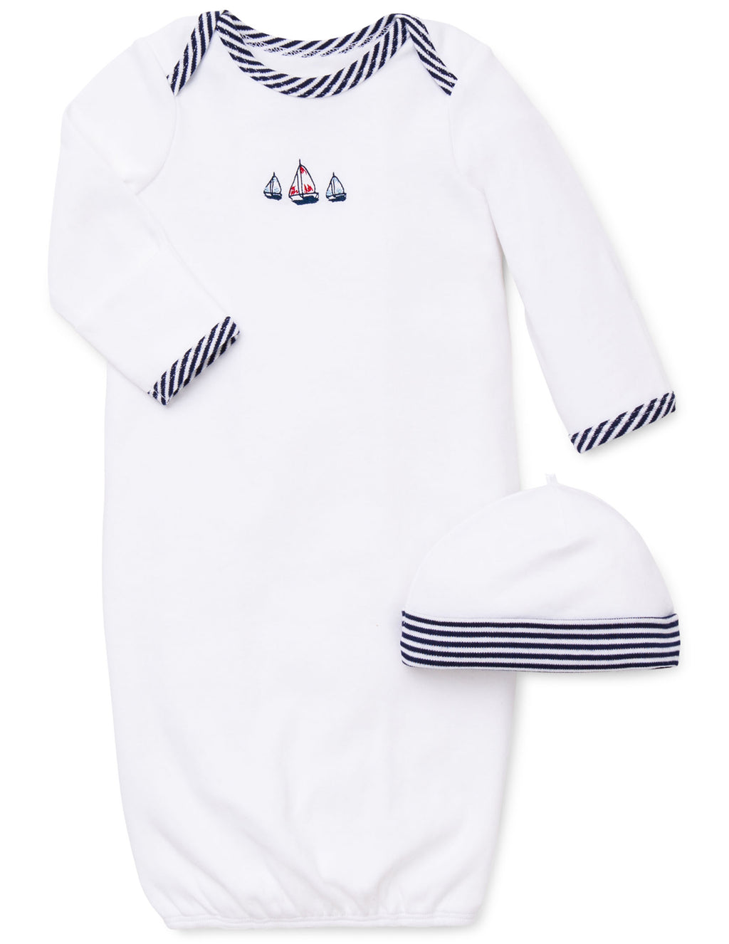 Sailboats Sleeper Gown And Hat