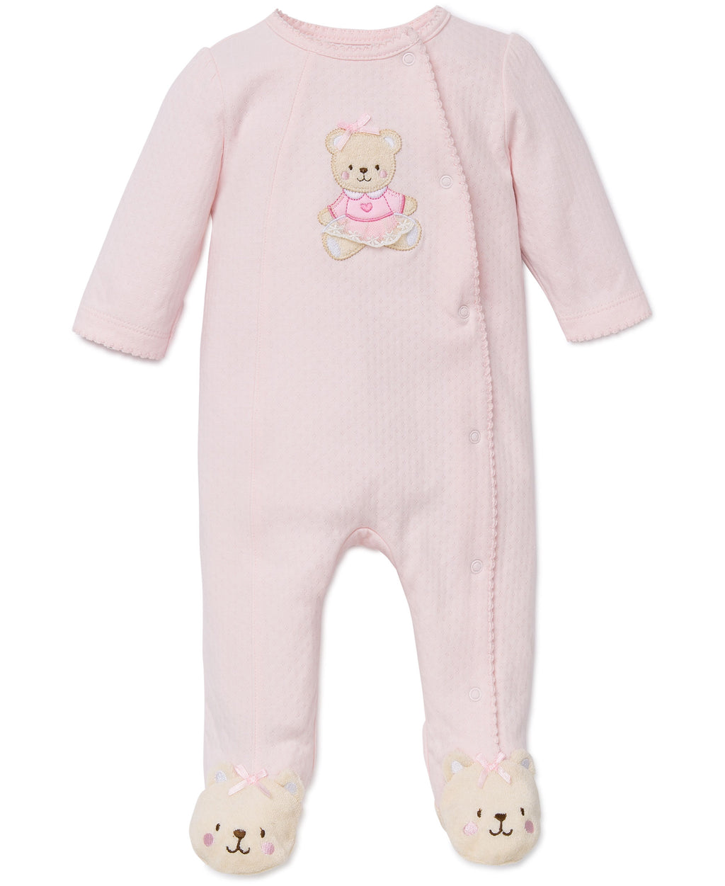 Pink Bear Footed One-Piece