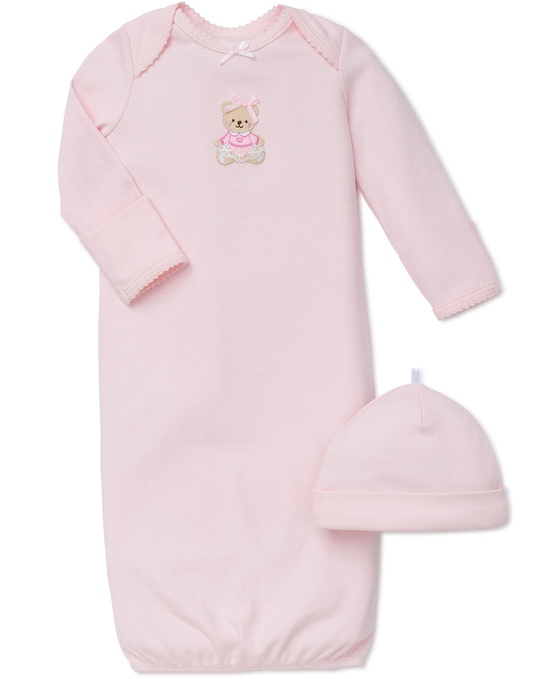 Pink Bear Sleeper Gown And Hat