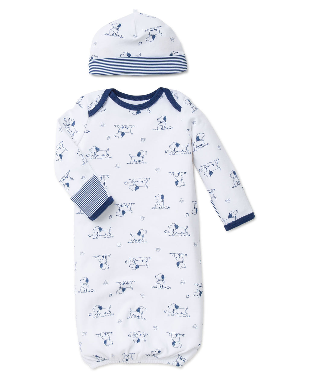 Puppy Toile Sleeper Gown And Hat
