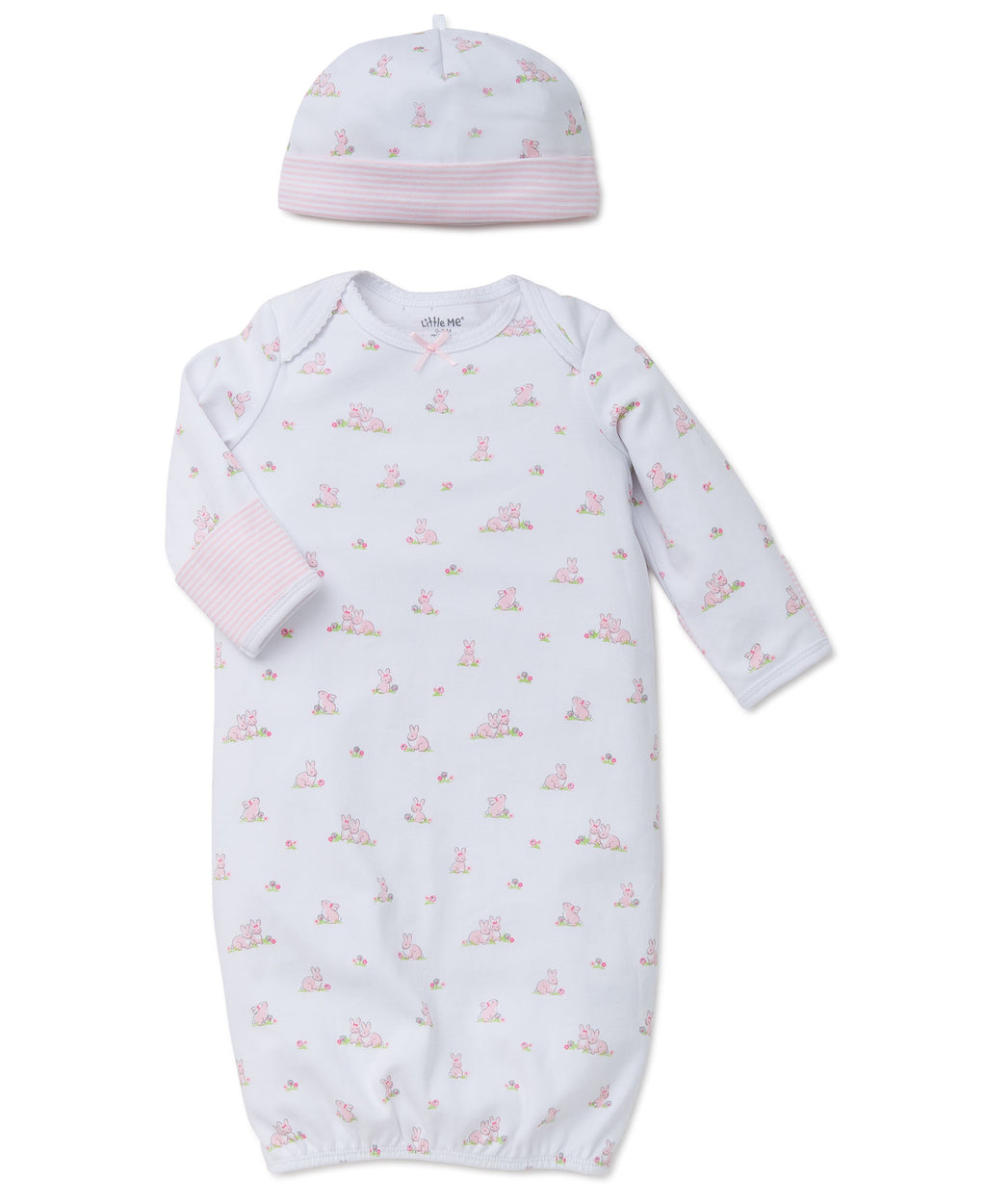 Baby Bunnies Sleeper Gown And Hat