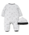 Dalmatian Footed One-Piece and Hat - Little Me